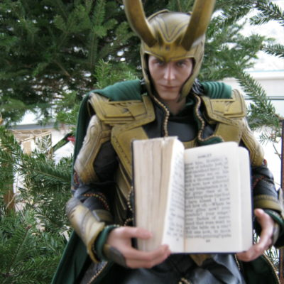 "Loki:  ""The skull scene is near the end of the play, in Act V.  See?  'Alas, poor Yorick!'"""