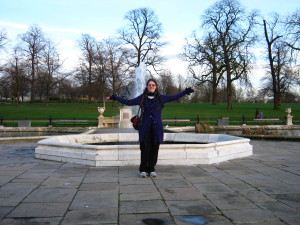 Fountains everywhere!  Christine loves fountains. Water...