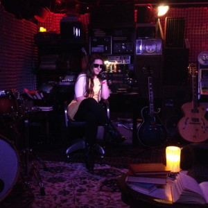 Maggie in Adam's studio.