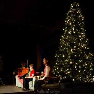 Chrsitine Williamson, Andra Kisler, and Henry Erickson in 'Holiday Special' by Jeane Beckwith (VT Playwrights Circle, 10Fest, Summer 2015